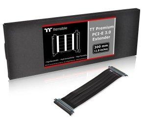 Taśma Thermaltake TT Premium PCI-E 3.0 x16 Extender - 300mm AC-045-CN1OTN-C1 (PCI-E x16 M - PCI-E x16 F; 0,30m; kolor czarny)