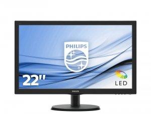 Monitor Philips 223V5LSB2/10 (21,5; TN; FullHD 1920x1080; VGA; kolor czarny)