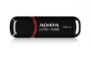 Pendrive ADATA UV150 AUV150-64G-RBK (64GB; USB 3.0; kolor czarny)