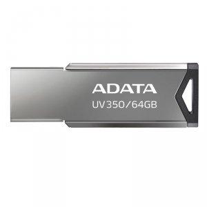 Pendrive ADATA UV350 AUV350-64G-RBK (64GB; USB 3.1; kolor srebrny)