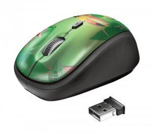 Mysz Trust Yvi Wireless Toucan 23389 (optyczna; 1600 DPI; kolor zielony)
