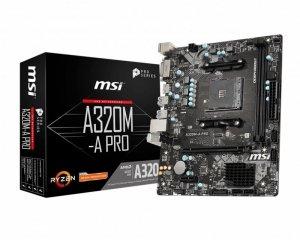 Płyta główna MSI A320M-A PRO (AM4; 2x DDR4 DIMM; Mini ATX)