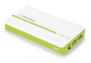PowerBank Esperanza Atom EMP107WG (11000mAh; microUSB, USB 2.0; kolor zielony)