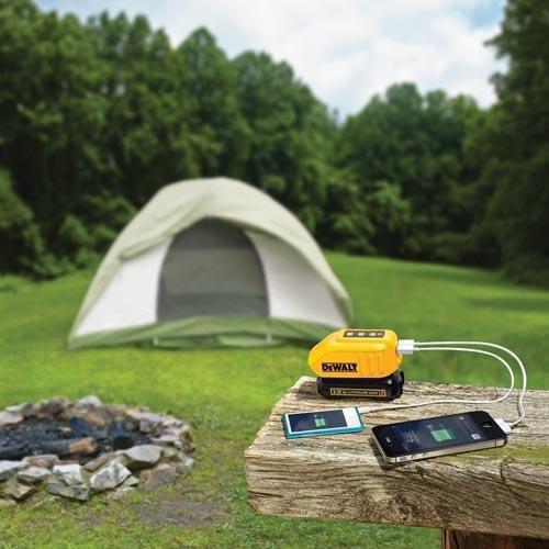 DeWALT DCB090 adapter zasilający/ inwentor Czarny, Żółty