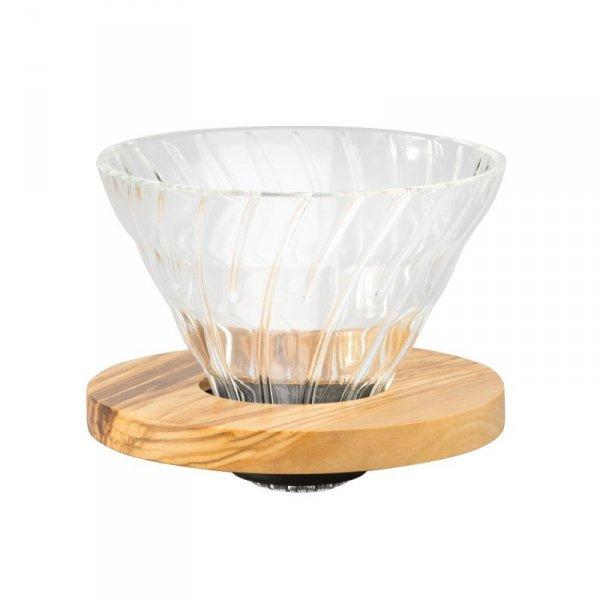 Szklany Drip V60-02 - Olive Wood