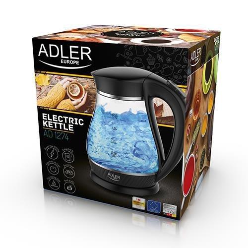 Czajnik elektryczny Adler AD 1274 (2200W 1.7l; kolor czarny)
