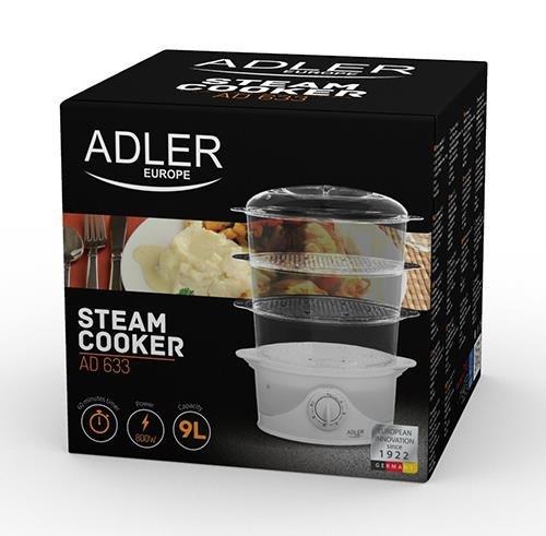Parowar do gotowania Adler AD 633 (9 litrów; kolor biały)
