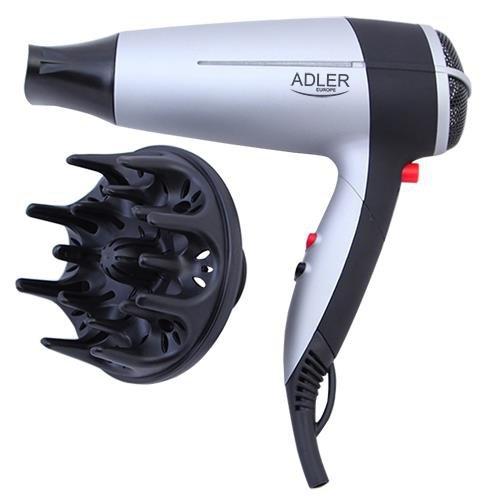 Suszarka do włosów Adler AD 2239 (2000W; kolor srebrny)