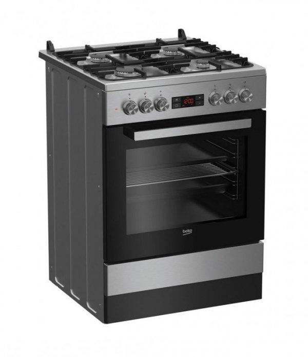 Kuchnia Beko FSM62332DXT (Płyta gazowa; Piekarnik elektryczny; 600mm)