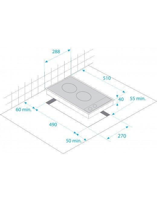 Beko HDCC 32200 X płyta kuchenna Czarny Wbudowany Ceramiczna 2 stref(y)