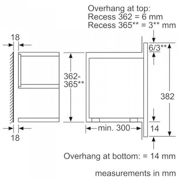Bosch Serie 8 BFL634GW1 kuchenka mikrofalowa Wbudowany Mikrofalówka Solo 21 L 900 W Biały