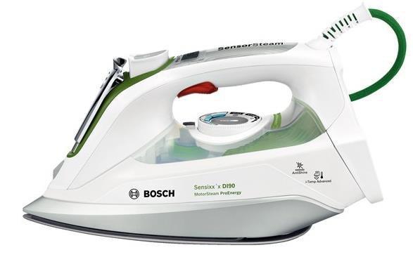 Bosch TDI902431E żelazko Żelazko parowe Ceramiczna śliska stopa żelazka Zielony, Biały 2400 W