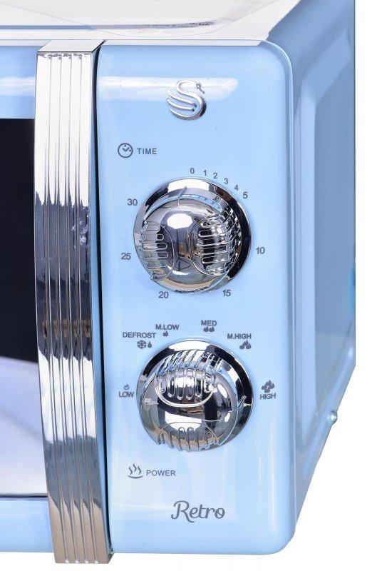Swan SM22130BLN kuchenka mikrofalowa Blat Mikrofalówka Solo 20 l 800 W Niebieski