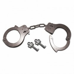 Kajdanki metalowe - S&M Metal Handcuffs
