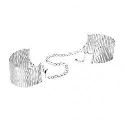 Kajdanki - Bijoux Indiscrets Desir Metallique Cuffs Silver