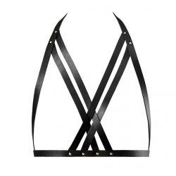 Uprząż na piersi - Bijoux Indiscrets Maze Halter Bra Harness Black