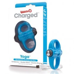Pierścień wibrujący - The Screaming O Charged Yoga Vibe Ring Blue