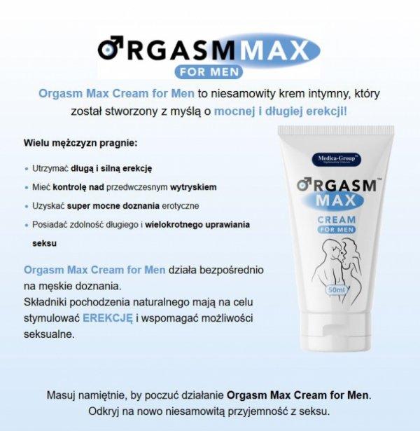 Żel/sprej - Orgasm Max cream for men 50 ml
