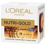 Loreal Dermo Nutri-Gold Nawilżająca terapia odżywcza na Noc 50ml