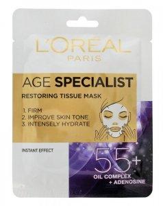 Loreal Age Specialist 55+ Maska na tkaninie odbudowująca  30g