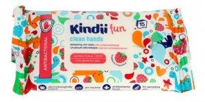 Kindii Fun Chusteczki odświeżające dla dzieci z płynem antybakteryjnym  1op.-15szt