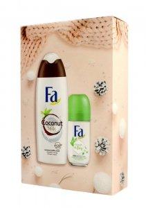 Fa Zestaw prezentowy (Żel pod prysznic Coconut 250ml+Dezodorant roll-on Fresh 50ml)
