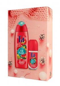 Fa Zestaw prezentowy Fiji Dream (Żel pod prysznic 250ml+Dezodorant roll-on 50ml)