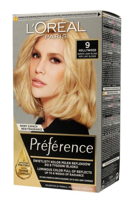 Loreal Preference Farba do włosów nr 9 Hollywood - bardzo jasny blond  1op.
