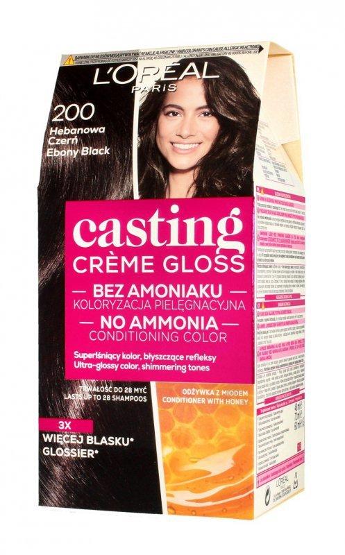Casting Creme Gloss Krem koloryzujący nr 200 Hebanowa Czerń 1op.