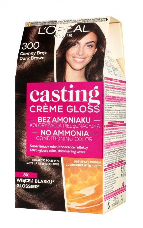 Casting Creme Gloss Krem koloryzujący nr 300 Ciemny Brąz 1op.