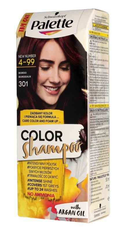 Palette Color Shampoo Szampon koloryzujący  nr 4-99 (301) Bordo  1op.