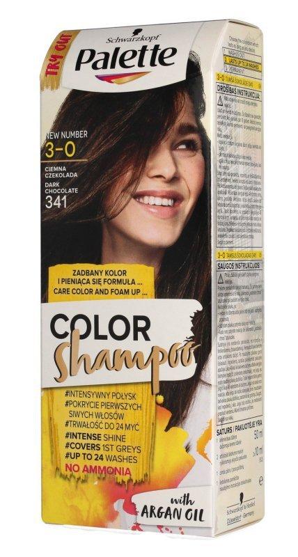 Palette Color Shampoo Szampon koloryzujący  nr 3-0 (341) Ciemna Czekolada  1op.
