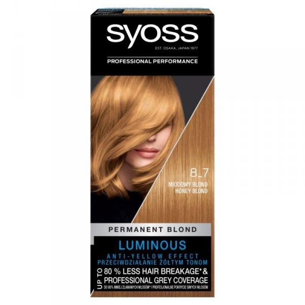Schwarzkopf Syoss Farba do włosów Miodowy Blond nr 8-7  1op.