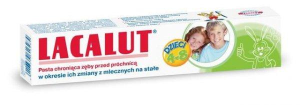 Lacalut Pasta do zębów dla dzieci od 4-8 lat  50ml