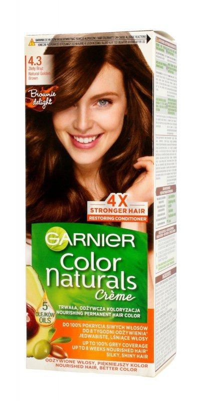 Garnier Color Naturals Krem koloryzujący nr 4.3 Złoty Brąz 1op