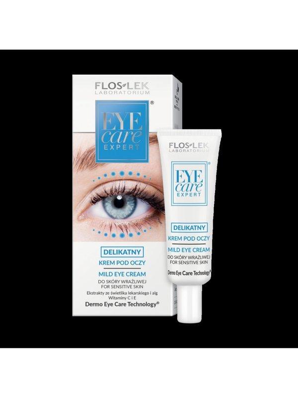 Floslek Eye Care Expert Delikatny krem pod oczy ze świetlikiem i witaminą C 30ml