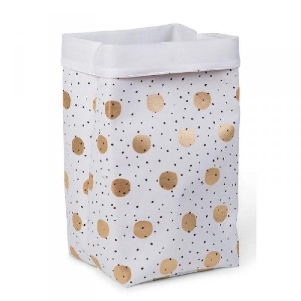 Childhome Pudełko płócienne 32 x 32 x 60 cm Gold Dots