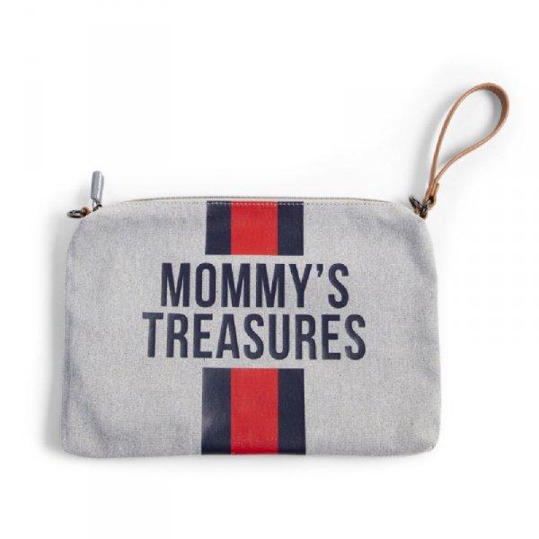 Childhome Torebka Mommy's Treasures Paski Granatowo-Czerwone
