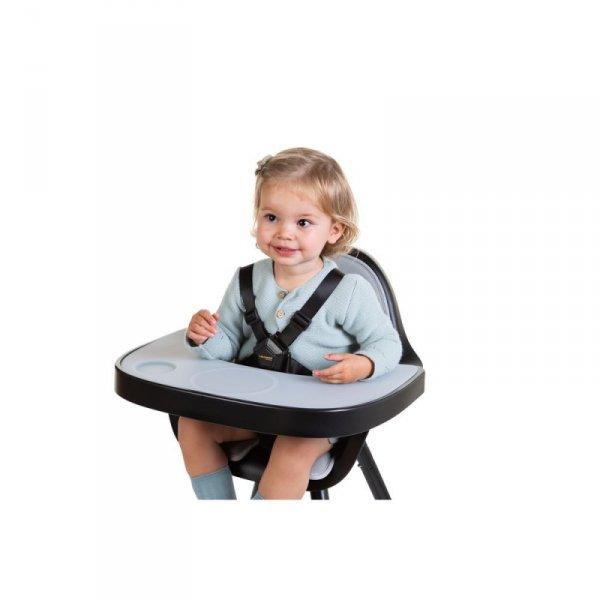 Childhome Tacka ABS do krzesełka Evolu 2 + mata silikonowa Black