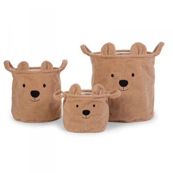 Childhome Pluszowy pojemnik na zabawki 40 x 40 x 40 cm Teddy Bear