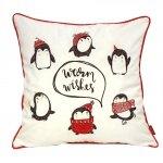Poszewka świąteczna Pingwiny 45x45