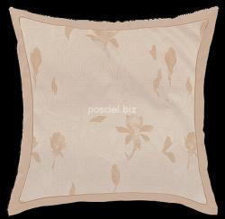 Exclusive Curt Bauer poszewka na poduszkę mako-żakardowa Magnolia caramel