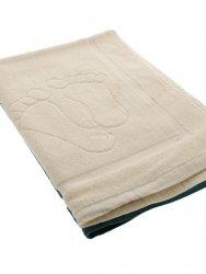 Dywanik ręcznik łazienkowy stopki krem 50x70