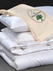 Zestaw kołdra puchowa Tree&Goose letnia 200x220+2poduszki