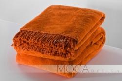 Moca desgin koc jednolity pomarańczowy