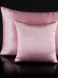 Jedwabna poszewka na poduszkę candy pink 40x40, 50x70
