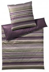 Joop poszewka mako-satin Micro lines purple ivy 4099 40x80, 80x80