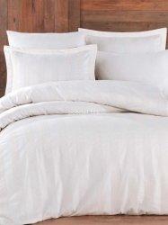 Hobby pościel satynowa żakardowa Wafel biała 200x220