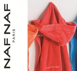 Elegancki szlafrok unisex Naf Naf czerwony S, L, XL