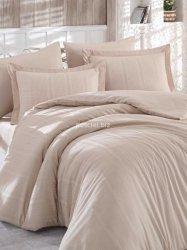Hobby pościel satynowa żakardowa Stripe beige 200x220